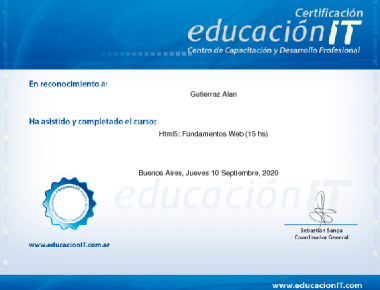 certificado fundamentos web